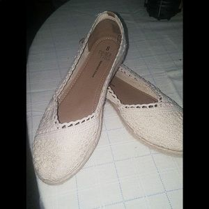 Lace slip on shoes